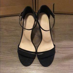 10W ASOS Black Ankle Strap Heels